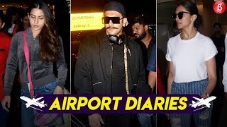 Airport Diaries: Deepika, Ranveer, Sara make a stylish appearance at the Airport