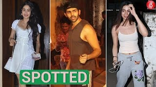 Janhvi Kapoor, Kartik Aaryan and other celebs spotted in and around the city