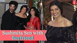 Sushmita Sen with Boyfriend Rohman Shawl at Shilpa Shetty's Diwali Party 2018