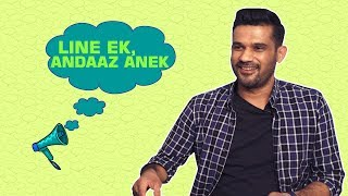'Tumbbad' actor Sohum Shah engages in a game of 'Line Ek, Mood Anek' with BollywoodBubble