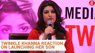 Twinkle Khanna reacts on son Aarav's Bollywood debut