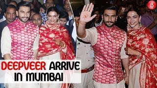 Newlyweds Deepika and Ranveer get mobbed at the Airport