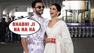 Deepika And Ranveer Leaves To Banglore For Wedding Reception | Media Calls Deepika BHABHI JI