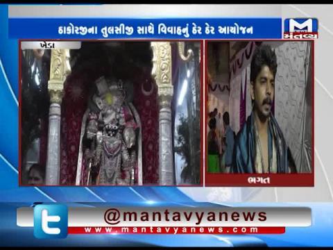 Kheda: Celebration on the occasion of Tulsi Vivah | Mantavya News