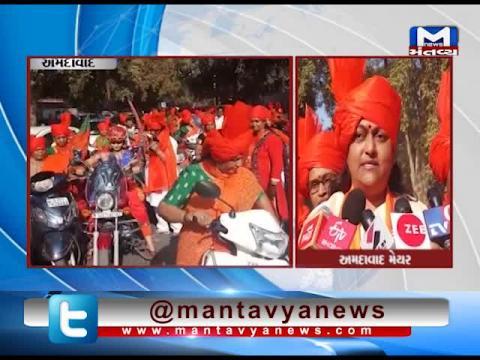 Ahmedabad: Traffic Rules violation in Bike Rally of BJP Mahila Morcha