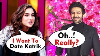 Sara Ali Khan Want To DATE Kartik Aaryan  | Kartik Aaryan Funny Reaction On Sara Ali Khan