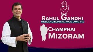 LIVE: Congress President Rahul Gandhi addresses a public gathering in Champhai, Mizoram