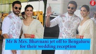 Ranveer Singh & Deepika Padukone jet off to Bengaluru to host their wedding reception!