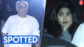 Janhvi Kapoor & Boney Kapoor spotted outside Arjun Kapoor's house