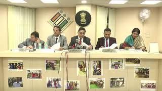 छत्तीसगढ़ विधानसभा आम चुनाव के दूसरे चरण के मतदान की समाप्ति पर चुनाव आयोग की प्रेस वार्ता ।