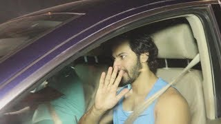 Varun Dhawan Spotted At The GYM In Khar