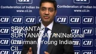 Mr. Srikantan Suryanarayan National Chairman Young Indians at CII's AGM & National Conference 2013