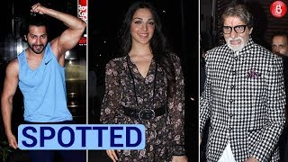 Varun Dhawan Kiara Advani and other celebs spotted in and around the city