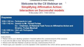 Simplifying Affirmative Action  Interaction on Successful models