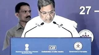 Mr Siddaramaiah Chief Minister of Karnataka at the Inaugural session of the Partnership Summit 2014