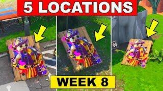 10 Carnival Clown Boards - Fortnite Week 9 Challenge (Where to find Clown Board Location)