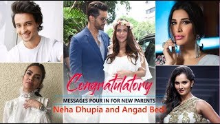 Bollywood Celebs congratulate Neha Dhupia and Angad Bedi as they welcome their baby girl