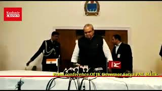 Press conference Of JK Governor Satya PAL Malik.