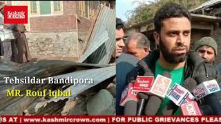 Anti encroachment drive in bandipora lead by tehsildar Bandipora