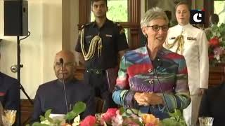 President Kovind meets Governor of Victoria at Government House in Melbourne
