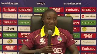 Windies captain Stafanie Taylor pre match press conference