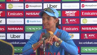 India captain Harmanpreet Kaur – post match press conference