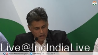 LIVE: AICC Press Briefing By Manish Tewari at Congress HQ