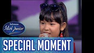 Surprise! Kayla ngobrol dengan Siti Badriah! - TOP 6 - Indonesian Idol Junior 2018