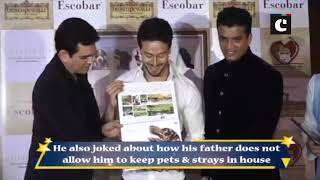 Tiger Shroff talks about his love for pets
