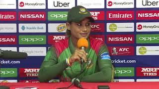 Bangladesh player Jahanara Alam post match press conference