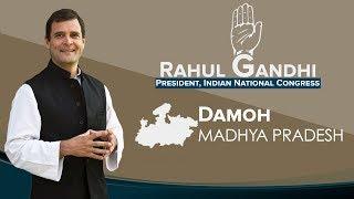 LIVE: Congress President Rahul Gandhi addresses a public gathering in Damoh, Madhya Pradesh