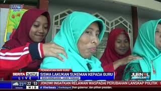 Ratusan Siswa di Banjarnegara Sungkeman dan Pijat Guru