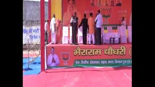 औसियां में जनप्रिय मुख्यमंत्री श्रीमती वसुंधरा राजे जी के साथ चुनावी सभा में |