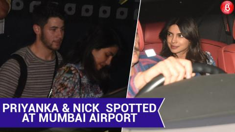Priyanka Chopra & Nick Jonas Arrive in Mumbai Ahead Of Their Wedding