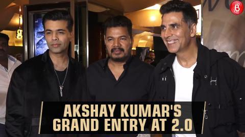 Akshay Kumar makes a Grand Entry at 2.0 Event With Director Shankar & Karan Johar