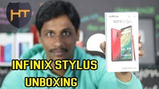 INFINIX NOTE 5 STYLUS with X Pen Unboxing Telugu