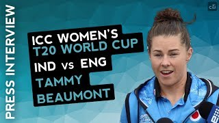 WWT20-Tammy beaumont Match Centre Interview after Semifinal win vs India