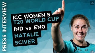 WWT20-Natalie Sciver Match Centre Interview after Semifinal win vs India
