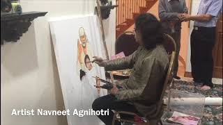 USA | Live Art Speed Painting | Navneet Agnihotri | Shirdi Sai Baba with 3 Kids | Sharda Patel