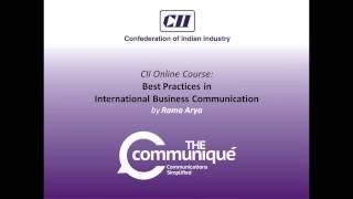 Curtain Raiser - CII OMC Series on Best Practices of International Business Communications