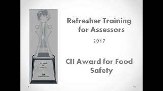 Refresher Training for CII Awards for Food Safety 2017
