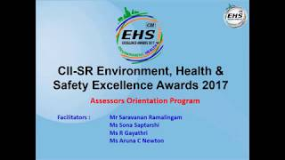 EHS Excellence Award 2017 – Assessor Orientation Programme - Batch 1
