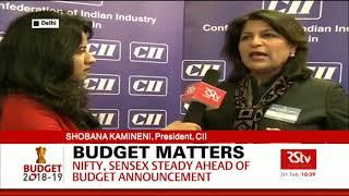 Ms Shobana Kamineni, CII President on Budget Expectations at Rajya Sabha Tv