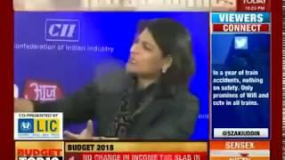 Ms Shobana Kamineni, President CII on Union Budget 2018 at India Today & Aaj Tak
