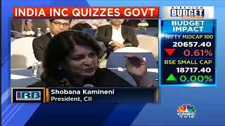 Ms Shobana Kamineni, President CII on Health Care in Union Budget 2018 at CNBC TV 18