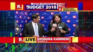 Ms Shobana Kamineni, President,CII Sharing Views on Union Budget 2018 at Republic TV