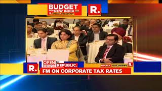 Ms Shobana Kamineni asking questions on Budget 2018 to Shri Arun Jaitley