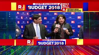 Ms Shobana Kamineni Briefly Speaking on Areas Covered Budget 2018 at Republic TV