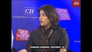 Ms Shobana Kamineni Sharing Talking About Areas of Focus in Budget 2018 at India Today Aaj Tak