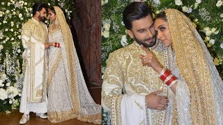 Ranveer Singh And Deepika Padukone Pose For Media At Reception In Mumbai | DeepVeer